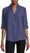 BY AND BY by&by Long Sleeve Blouse-Juniors