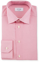 Eton Contemporary-Fit Chain-Stitch Print Dress Shirt, Pink