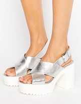 London Rebel Platform Unit Sandal