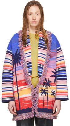 Alanui Multicolor Cashmere Sunset Boulevard Cardigan