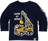 Carhartt Navy Blazer 'Hard at Work' Graphic Tee - Toddler