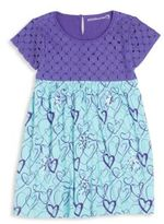 Design History Toddler's & Little Girl's Heart-Print Eyelet Dress