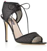 Sarah Jessica Parker Ravish Leather and Glitter Mesh High Heel Sandals - 100% Exclusive