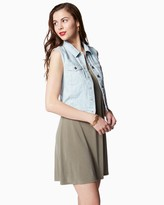 Charming charlie Monterey Sleeveless Denim Vest