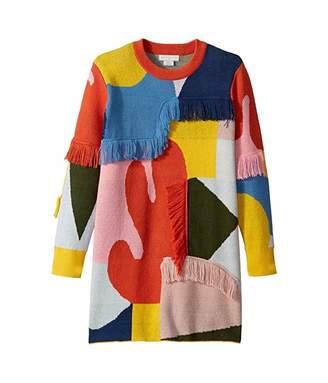 Stella McCartney Color Block and Fringe Sweater Dress (Toddler/Little Kids/Big Kids)