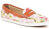 Cole Haan Pinch Weekender Floral Printed Textile Slip On Penny Loafers