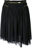 Jay Ahr gold-tone detail pleated skirt