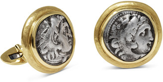 Jorge Adeler Men's Ancient Alexander The Great Coin 18K Gold Cufflinks