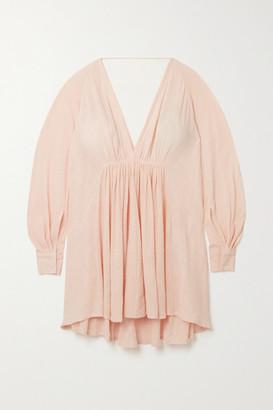 Kalita Always The Muse Cotton-gauze Mini Dress - Blush