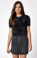 KENDALL + KYLIE Kendall & Kylie Fuzzy Cropped Sweater