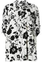 Dorothy Perkins Womens DP Curve Plus Size Grey Floral Print Shirt