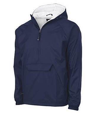 Charles River Apparel Plus Wind & Water-Resistant Pullover Rain Jacket (Reg/Ext Sizes)