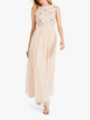 Phase Eight Rosario Bodice Maxi Dress, Cameo