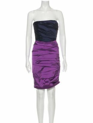 Dolce & Gabbana Silk Mini Dress Blue