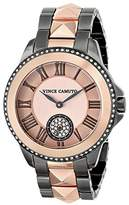 Vince Camuto Women's Quartz Watch with Silver Dial Analogue Display and Rose Gold Stainless Steel Bracelet VC/5048SVRG