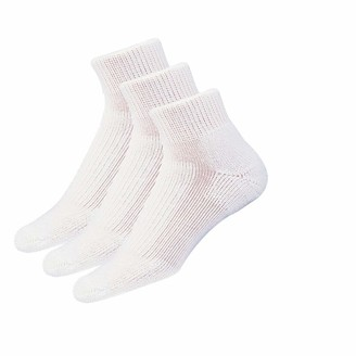 Thorlos Unisex-Adult's Walking Thick Padded Ankle 3 Pair Pack Socks