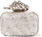 Jimmy Choo Cloud Embellished Organza Clutch - Silver