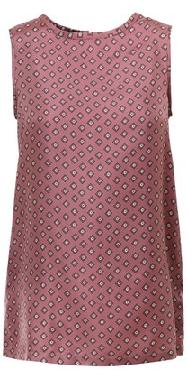 Max Mara 'S Sleeveless Printed Twill Top