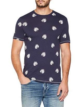 Celio Men's Mequattro T-Shirt, Blue Navy, Large