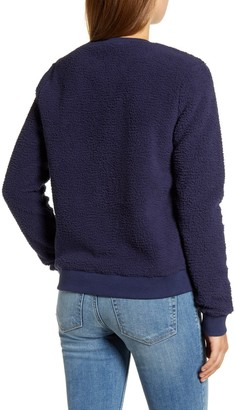 Lucky Brand Faux Shearling Pullover Sweater