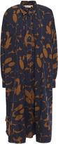 Marni Oversized Printed Cotton-poplin Shirt Dress