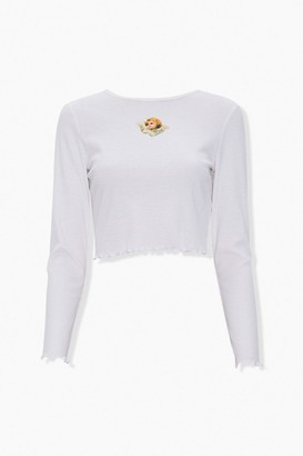 Forever 21 Angel Graphic Crop Top