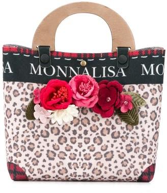 MonnaLisa Leopard Print Tote Bag