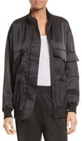 ATM Anthony Thomas Melillo Women's Satin Bomber Jacket