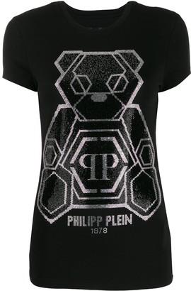 Philipp Plein embellished teddy bear T-shirt