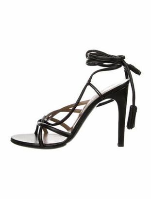 Hermes Rumba Leather Sandals Black