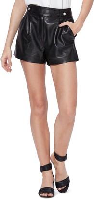 Paige Colima Leather Shorts