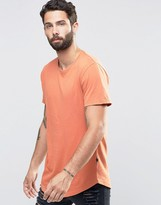 ONLY & SONS Longline T-shirt with Crew Neck