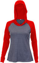 Soffe Red & Gray Heather Hooded Raglan Top