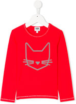 Karl Lagerfeld cat print long sleeve shirt