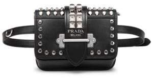 Prada Cahier Studded Belt Bag