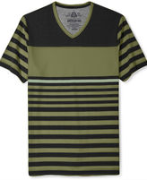 American Rag T-Shirt, Date Stripe Short Sleeve T-Shirt