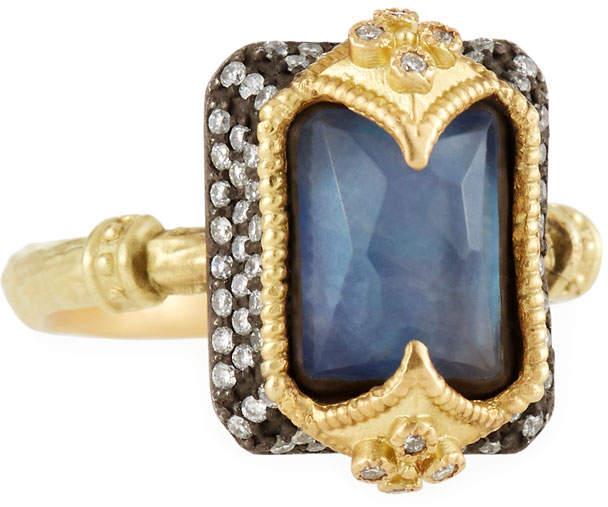 Armenta Old World Dulcinea Triplet Crivelli Diamond Ring, Size 6.5