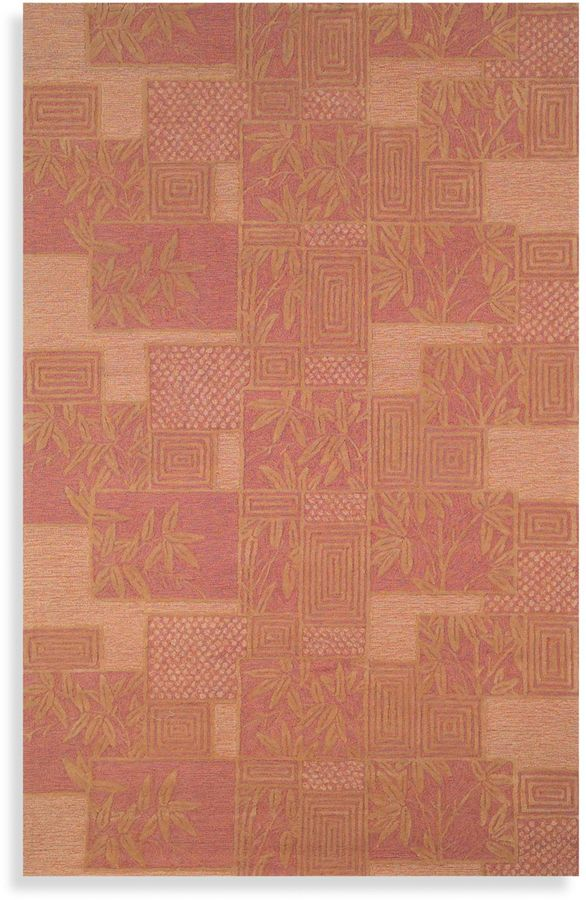 Tommy Bahama Box Rug by in Rust