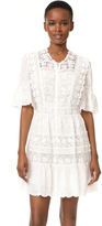 Rebecca Taylor Eyelet Dress with Crochet Trim