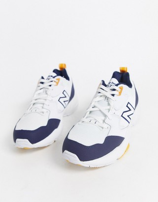 New Balance 708 Chunky Trainers in navy