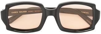 Karen Walker Sidney rectangular sunglasses