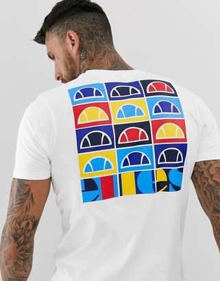 Ellesse Fondato t-shirt with back print in white