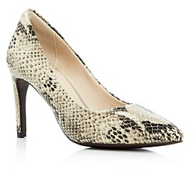 Cole Haan Amelia Snake-Print Pointed Toe Pumps