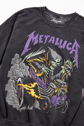Urban Outfitters Metallica Distressed Washed Crew Neck Sweatshirt