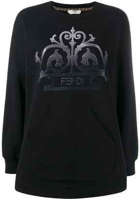 Fendi embroidered FF logo sweatshirt