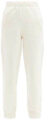 Ganni Software Recycled Cotton-blend Track Pants - Cream