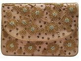 La Regale Home Spun Beaded Canvas Clutch