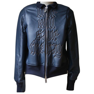 Sacai Blue Leather Jackets