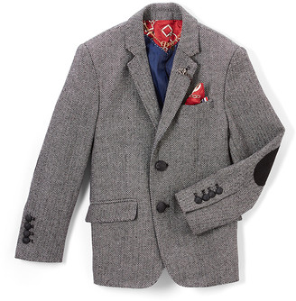 Elie Balleh Boys' Blazers GREY - Gray Wool-Blend Blazer - Toddler & Boys