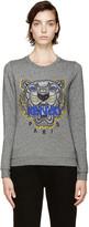 Kenzo Grey Tiger Logo Sweatshirt